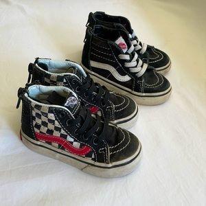 VANS🖤 Two-for-one Vans heel-zip high tops infant
